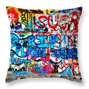Graffiti Street Throw Pillow by Bill Cannon