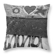 Graffiti Table 2 Throw Pillow