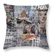 Graffiti Walls Throw Pillow