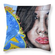 Grafitti Art Calama Chile Throw Pillow