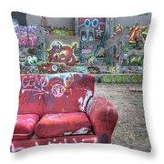 Grafitti Couch Throw Pillow