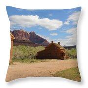 Grafton Utah Butch Cassidy Movie Set Panorama Throw Pillow
