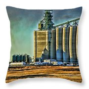 Grain Elevators Throw Pillow