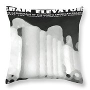 Grain Elevators Sacramento Valley California Throw Pillow