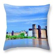 Grain Mills Throw Pillow