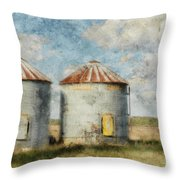 Grain Silos - Digital Paint Throw Pillow