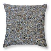 Grainy Sand Throw Pillow