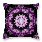 Grammy's Psychedelic Doily Throw Pillow