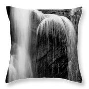 Grampians Waterfall Bw Throw Pillow
