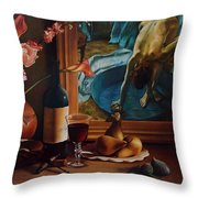 Gran Chateau With Pears Throw Pillow
