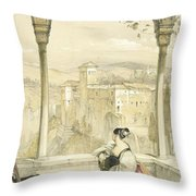 Granada , Plate 9 From Sketches Throw Pillow