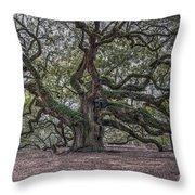 Grand Angel Oak Tree Throw Pillow