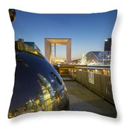 Grand Arch And La Defense Throw Pillow