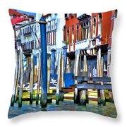 Grand Canal - Venice Throw Pillow