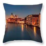 Grand Canal At Dusk Throw Pillow