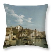 Grand Canal From Palazzo Flangini To Palazzo Bembo Throw Pillow