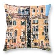Grand Canal Gondola Throw Pillow
