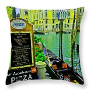 Grand Canal Scene Throw Pillow