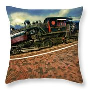 Grand Canyon 29 Railway Throw Pillow