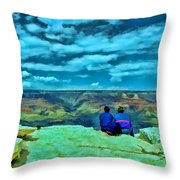 Grand Canyon # 7 - Hopi Point Throw Pillow