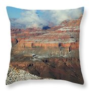 grand Canyon After the Snow Throw Pillow