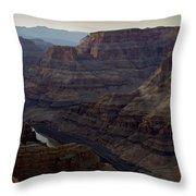 Grand Canyon And Colorado River Throw Pillow