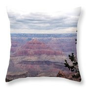 Grand Canyon Awaiting Snowstorm Throw Pillow