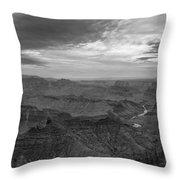 Grand Canyon Black And White Throw Pillow