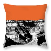 Grand Canyon - Coral Throw Pillow
