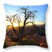 Grand Canyon Gathering The Light Throw Pillow