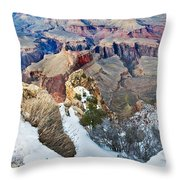 Grand Canyon In February Throw Pillow