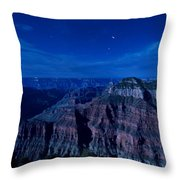 Grand Canyon In Moonlight Throw Pillow
