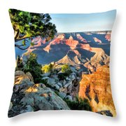 Grand Canyon Ledge Throw Pillow