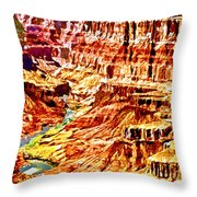 Grand Canyon Navajo Painting Throw Pillow