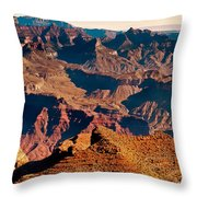 Grand Canyon Navajo Point Panorama At Sunrise Throw Pillow