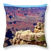 Grand Canyon Of Red By Diana Sainz Throw Pillow