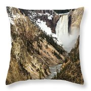 Grand Canyon Of The Yellowstone Throw Pillow by Michael Chatt