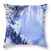 Grand Canyon Of The Yellowstone Yellowstone National Park Wyoming Throw Pillow
