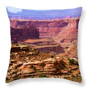 Grand Canyon Of Utah Throw Pillow by Adam Jewell