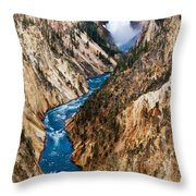 Grand Canyon Of Yellowstone Throw Pillow by Bill Gallagher