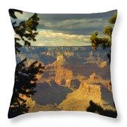 Grand Canyon Peek Throw Pillow
