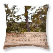 Grand Canyon Post Office Throw Pillow
