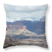 Grand Canyon Shadows And Snow Throw Pillow