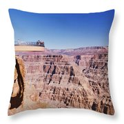 Grand Canyon Skywalk, Eagle Point, West Throw Pillow