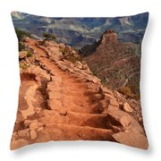 Grand Canyon South Kaibab Trail And Oneill Butte Vertical Throw Pillow