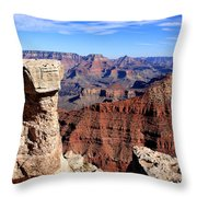 Grand Canyon - South Rim View Throw Pillow