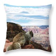 Grand Canyon Squirrel Throw Pillow