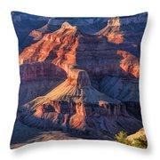 Grand Canyon Sunset Ridge Throw Pillow