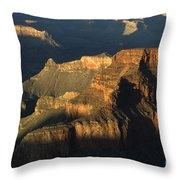 Grand Canyon Symphony Of Light And Shadow Throw Pillow