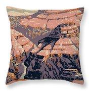 Grand Canyon Travel Poster 1938 Throw Pillow